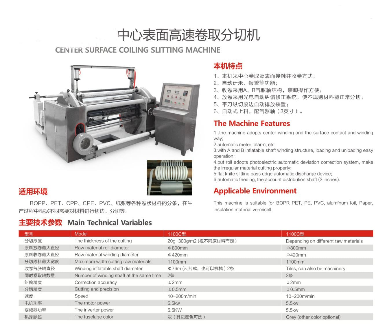 Surface type slitting machine for paper straw strip rolls